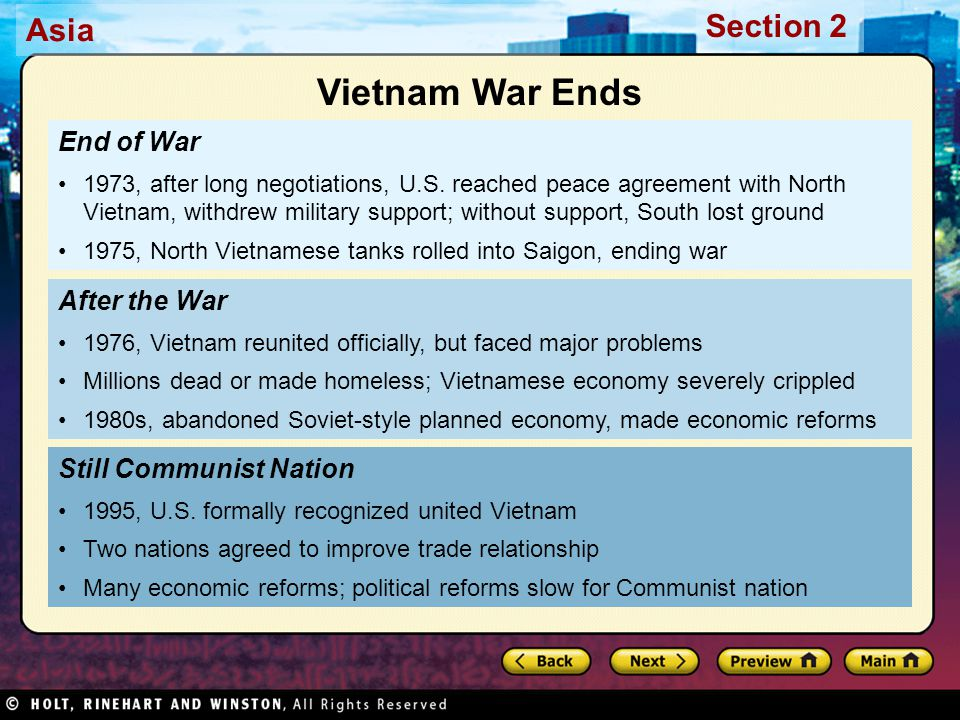Vietnam War Ends End of War After the War Still Communist Nation