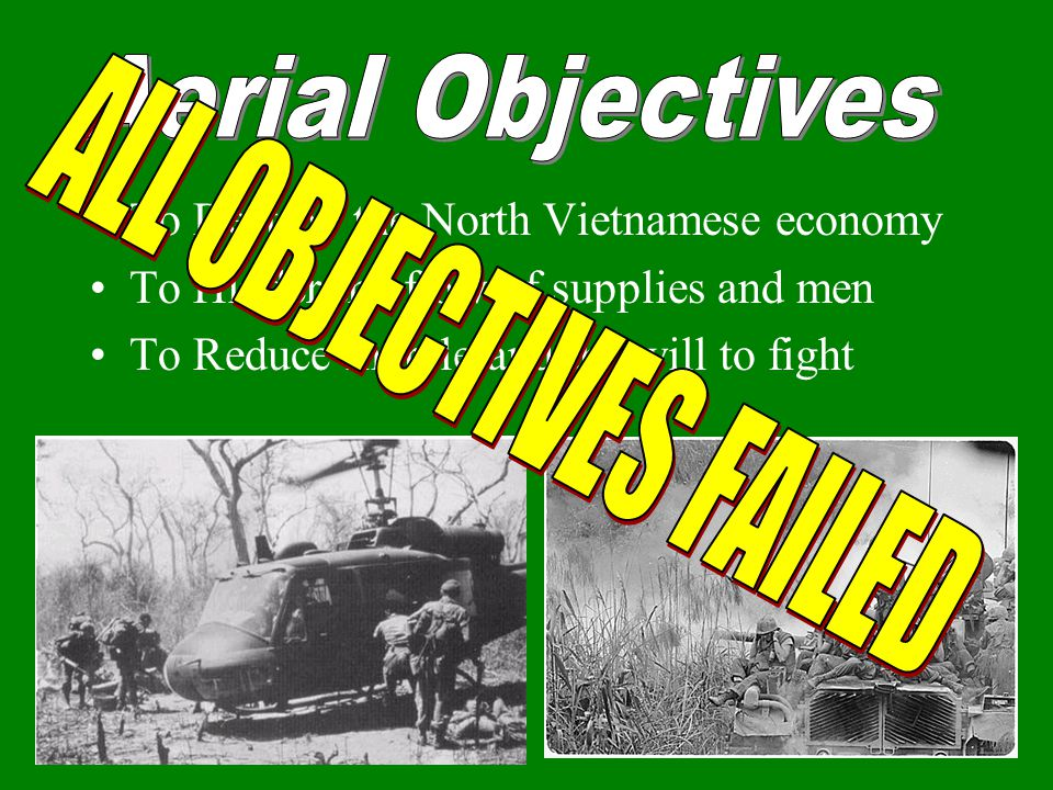 Aerial Objectives ALL OBJECTIVES FAILED