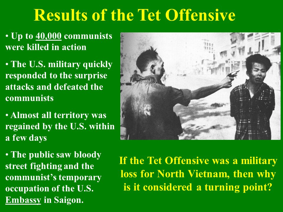 Results of the Tet Offensive