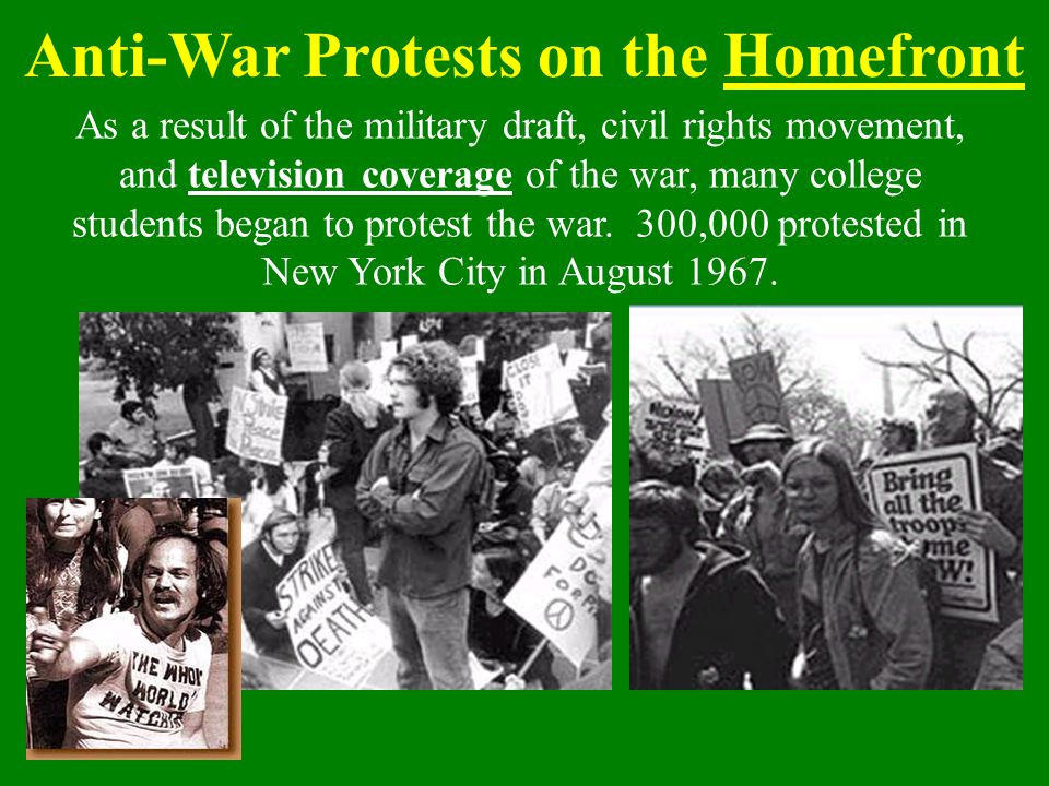 Anti-War Protests on the Homefront
