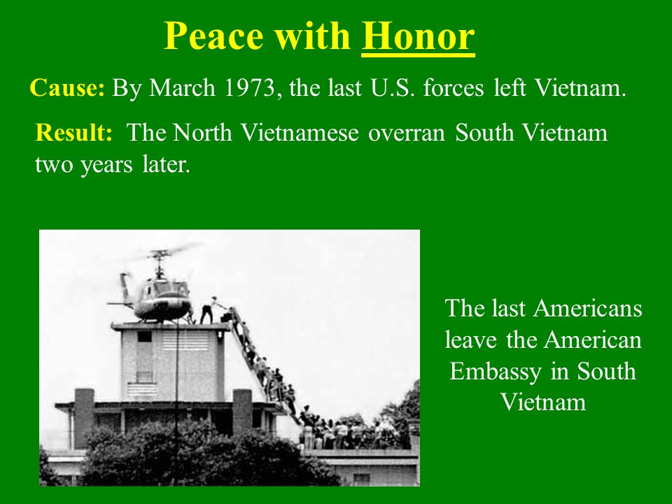 The last Americans leave the American Embassy in South Vietnam