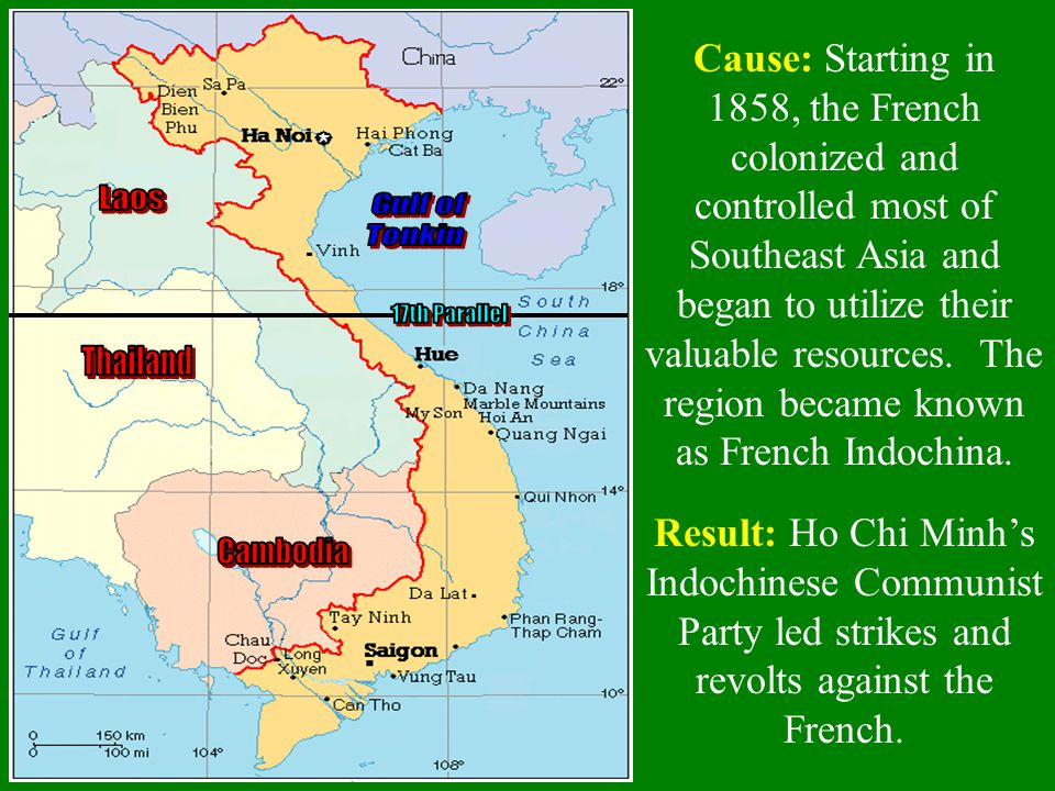 Laos Gulf of Tonkin 17th Parallel Thailand Cambodia