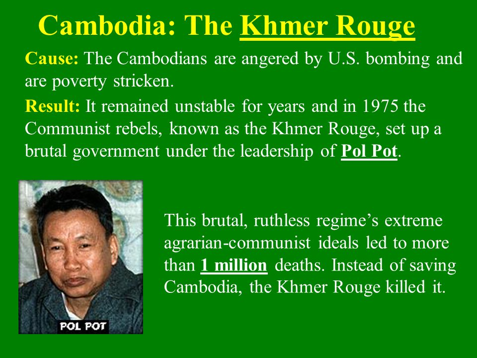 Cambodia: The Khmer Rouge