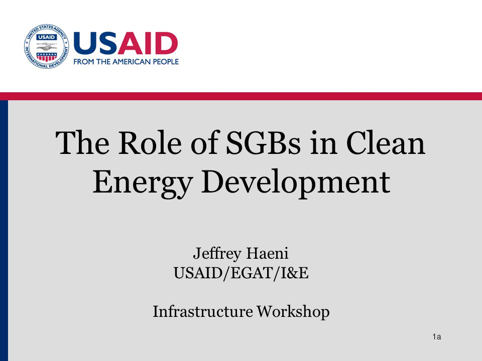 The Role of SGBs in Clean Energy Development
