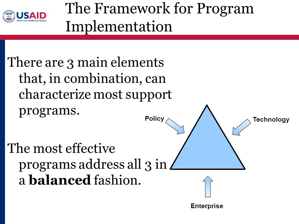 The Framework for Program Implementation