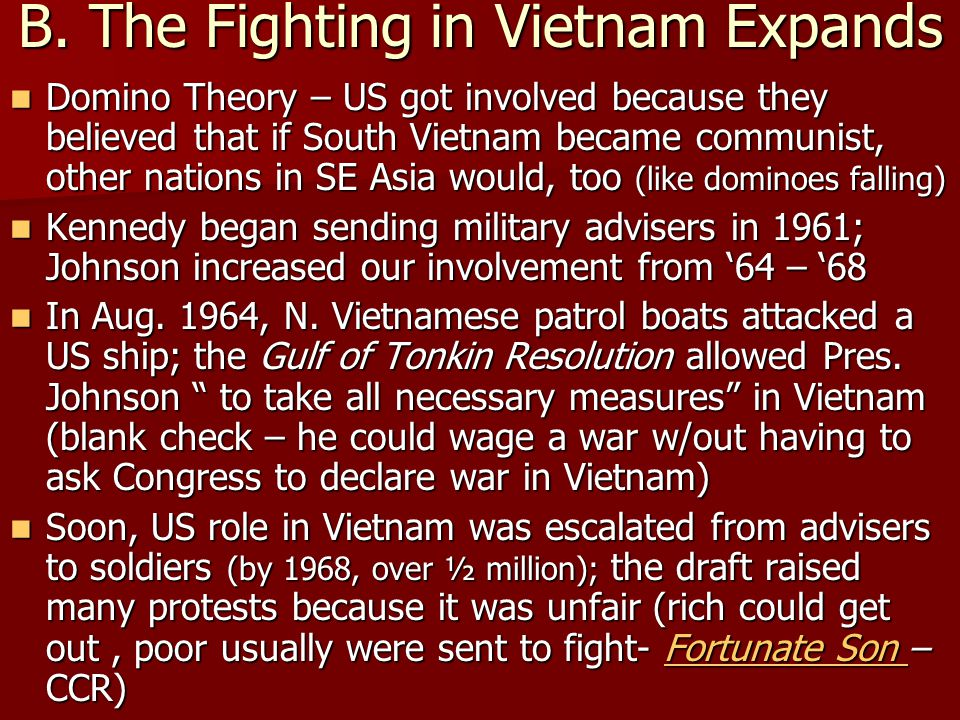B. The Fighting in Vietnam Expands