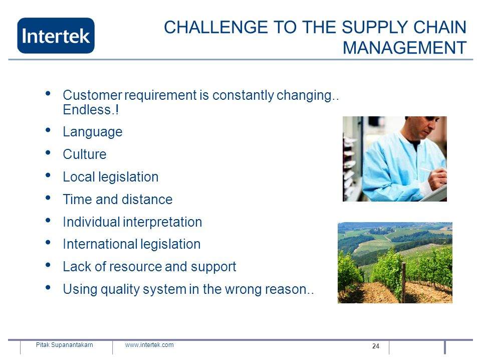CHALLENGE TO THE SUPPLY CHAIN MANAGEMENT