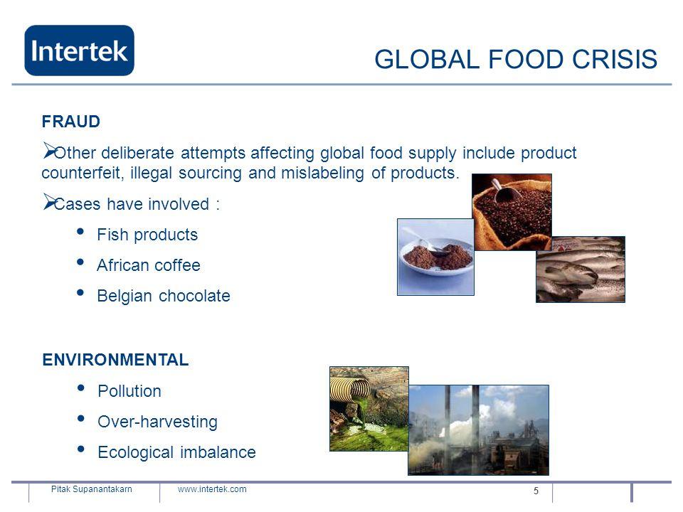 GLOBAL FOOD CRISIS FRAUD