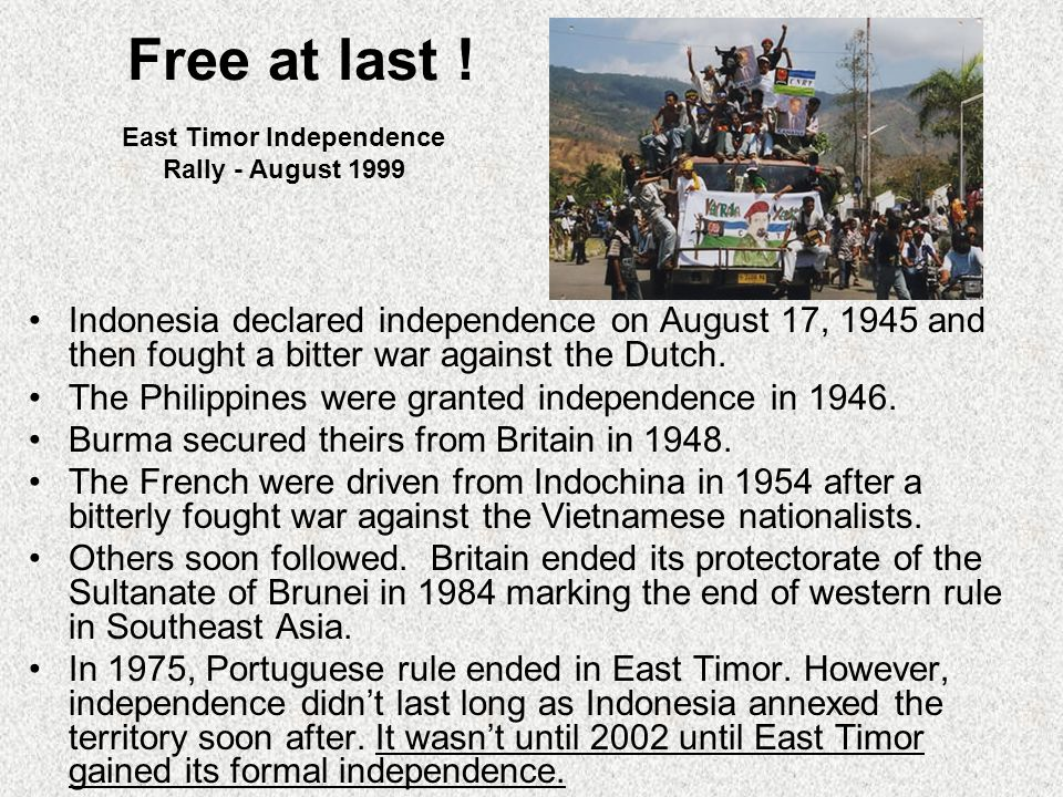 East Timor Independence Rally - August 1999