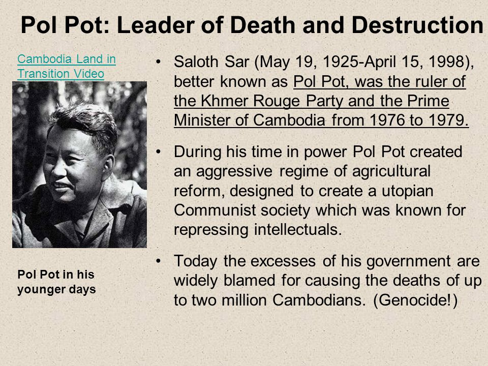 Pol Pot: Leader of Death and Destruction