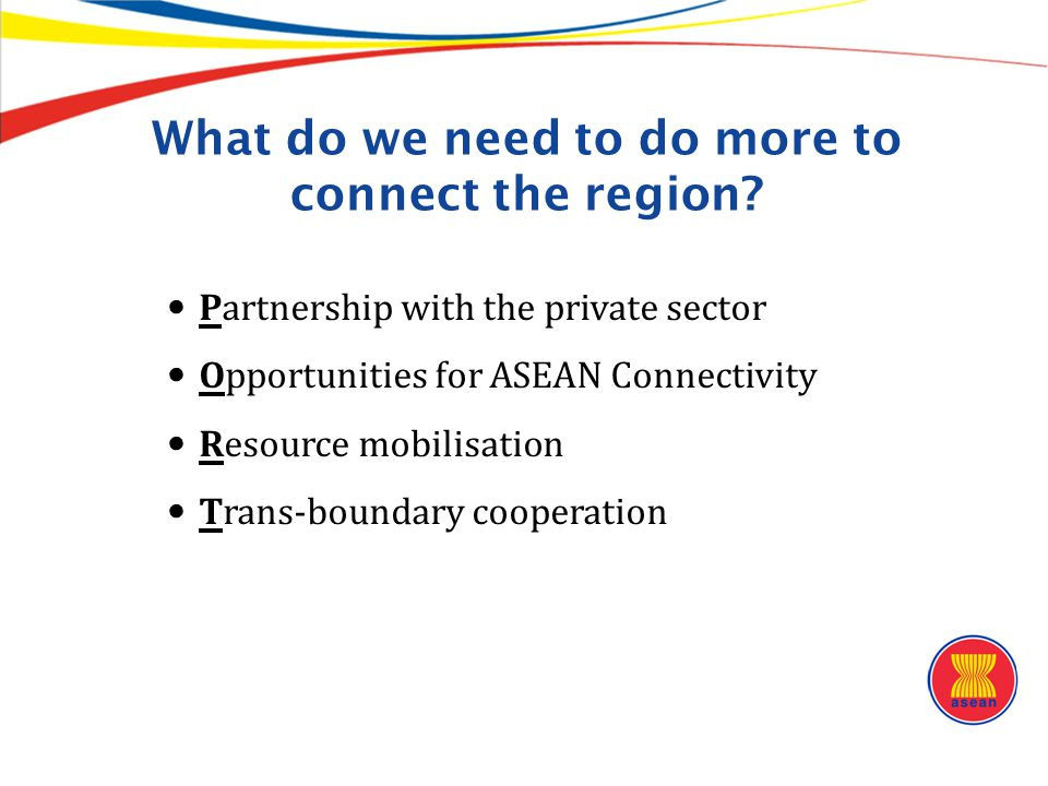 What do we need to do more to connect the region