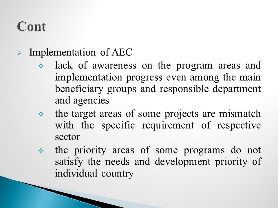 Cont Implementation of AEC
