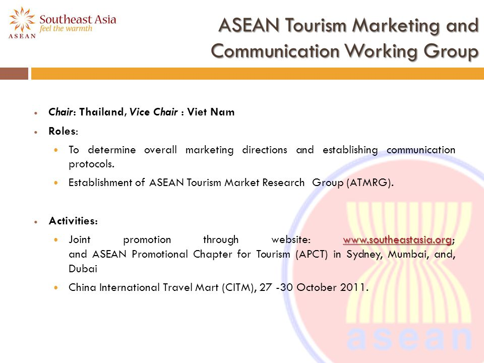 ASEAN Tourism Marketing and Communication Working Group