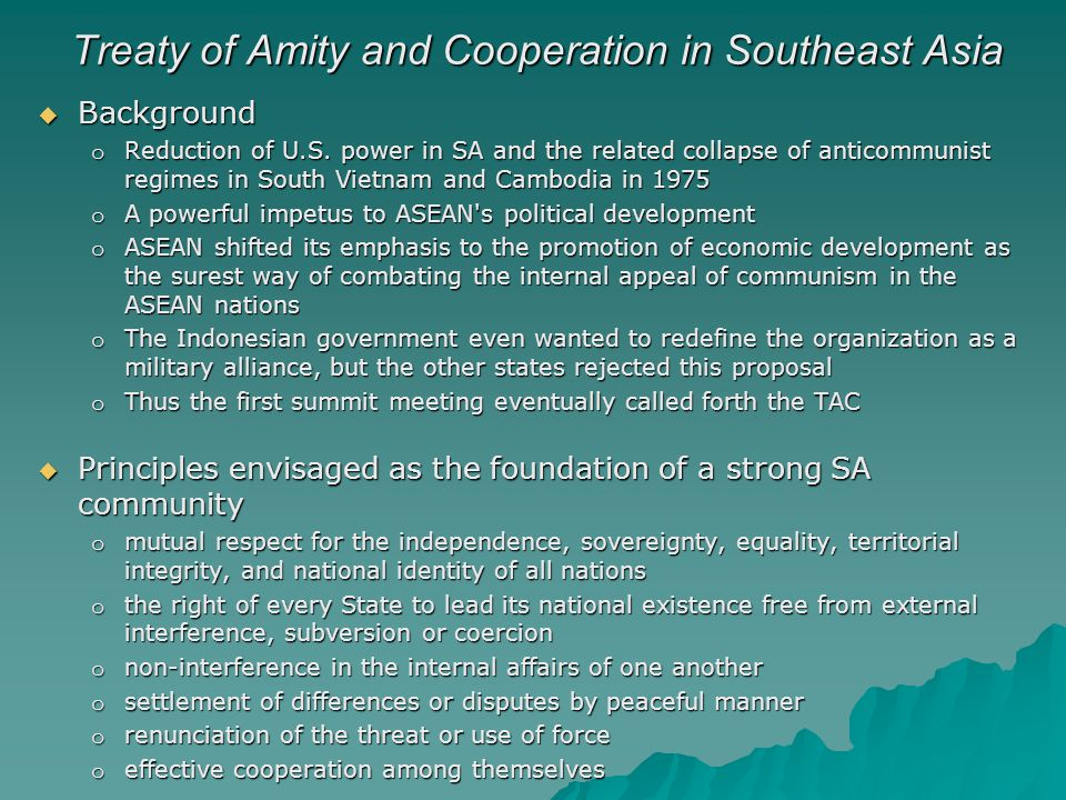 Treaty of Amity and Cooperation in Southeast Asia