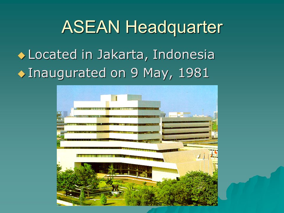 ASEAN Headquarter Located in Jakarta, Indonesia