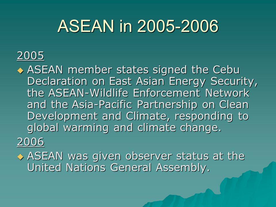 ASEAN in 2005-2006 2005.