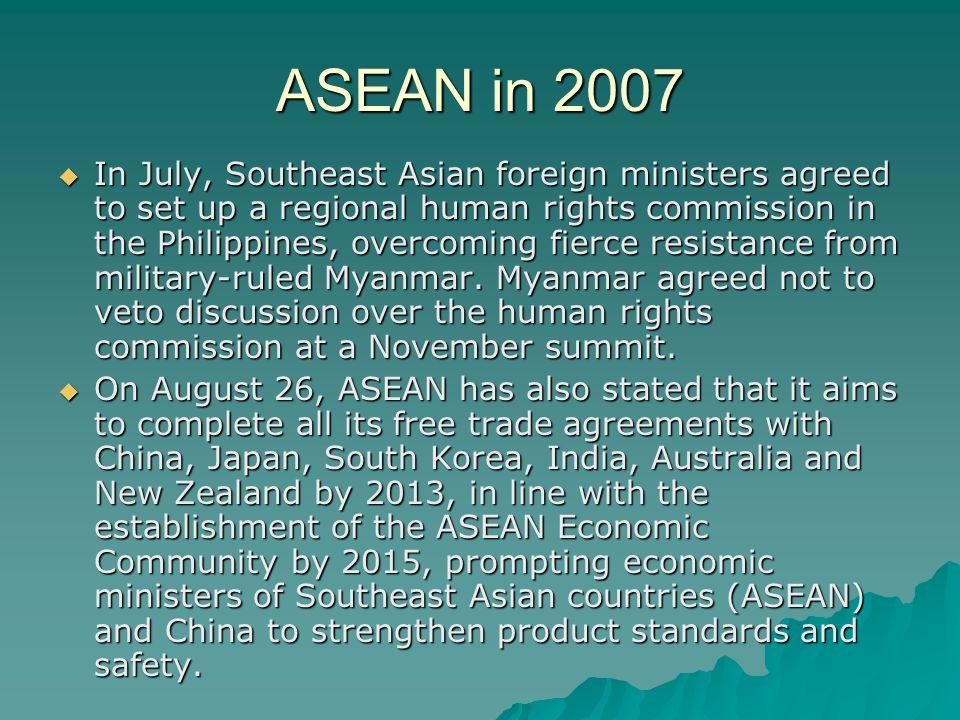 ASEAN in 2007