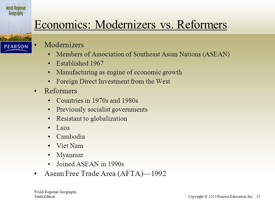 Economics: Modernizers vs. Reformers