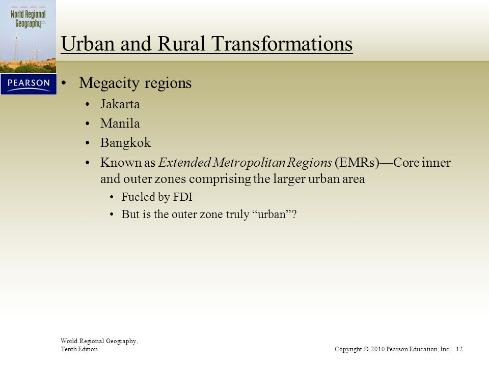 Urban and Rural Transformations