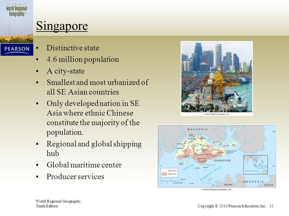 Singapore Distinctive state 4.6 million population A city-state