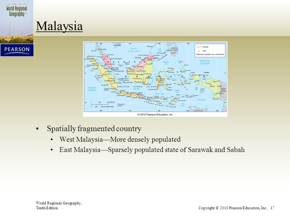 Malaysia Spatially fragmented country