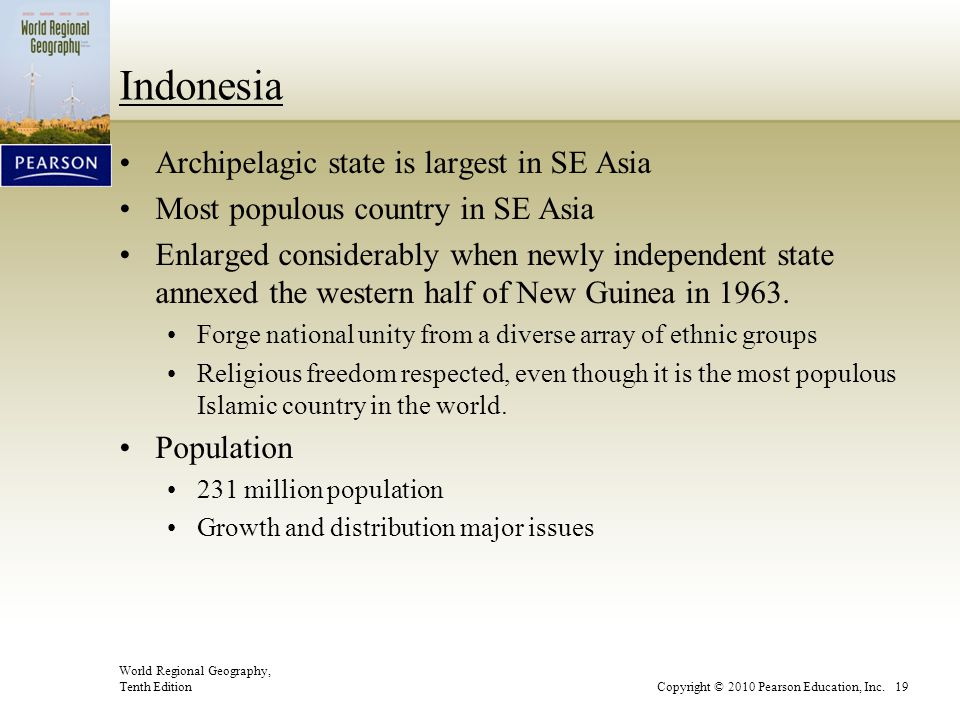 Indonesia Archipelagic state is largest in SE Asia