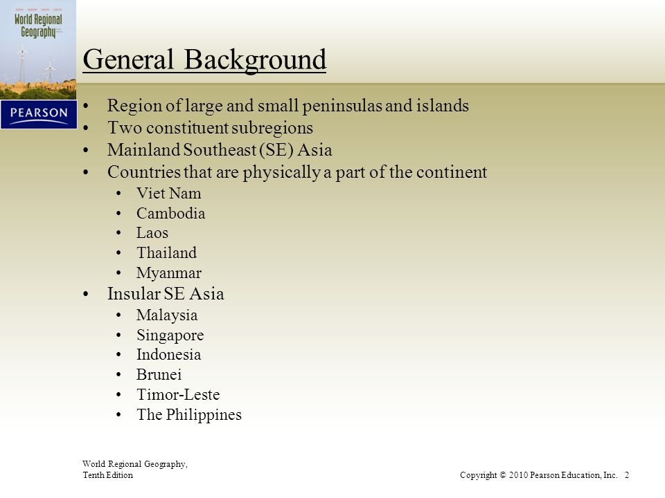General Background Region of large and small peninsulas and islands