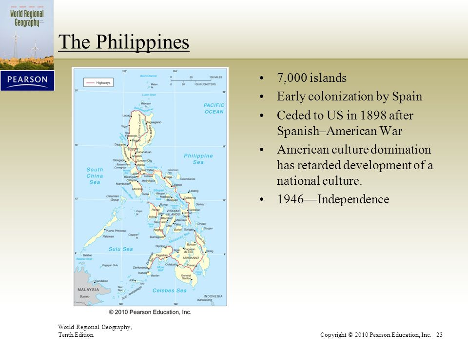 The Philippines 7,000 islands Early colonization by Spain