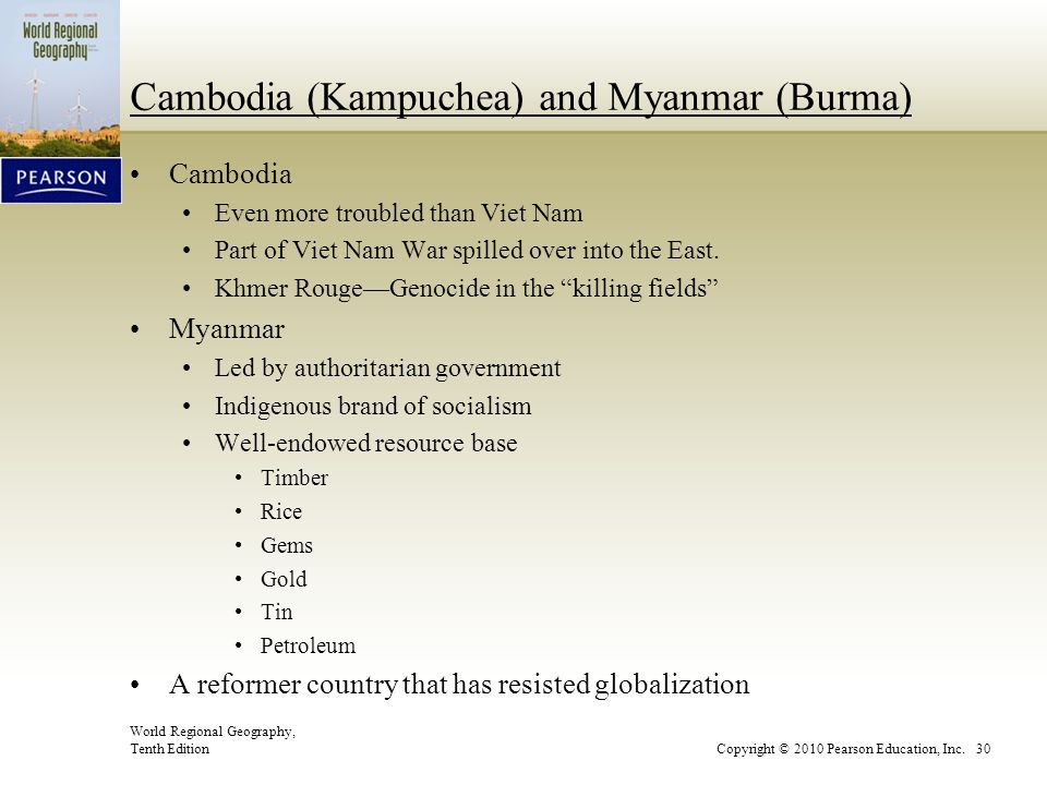 Cambodia (Kampuchea) and Myanmar (Burma)