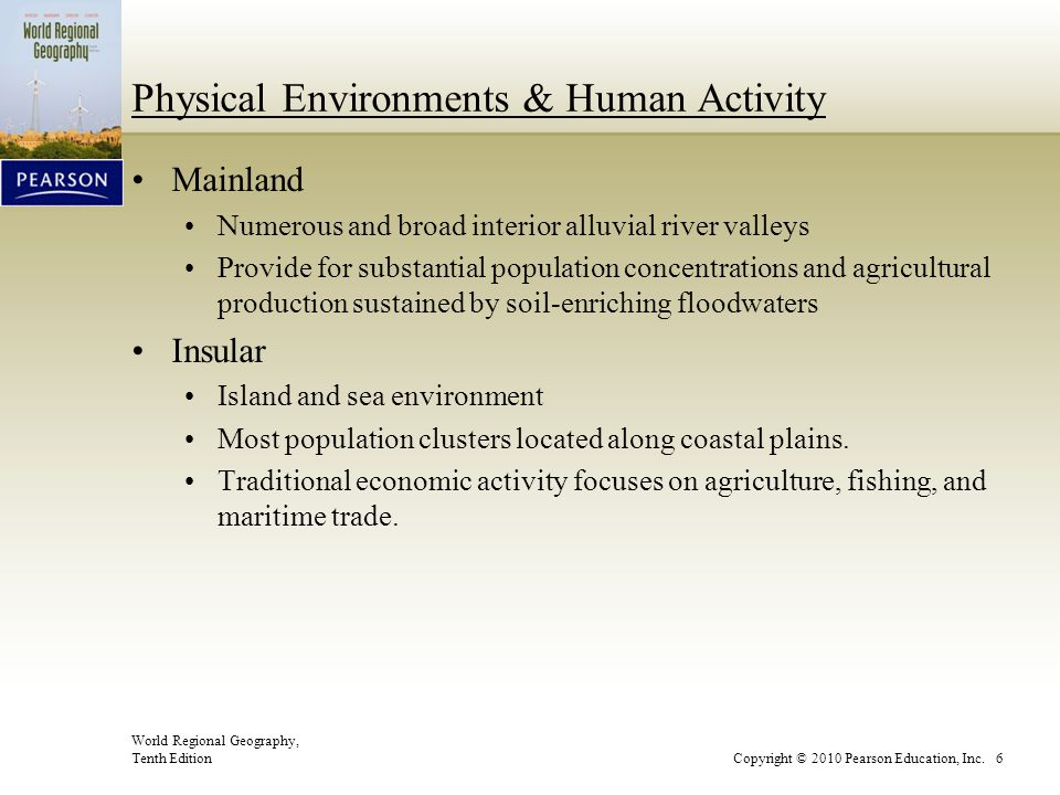 Physical Environments & Human Activity