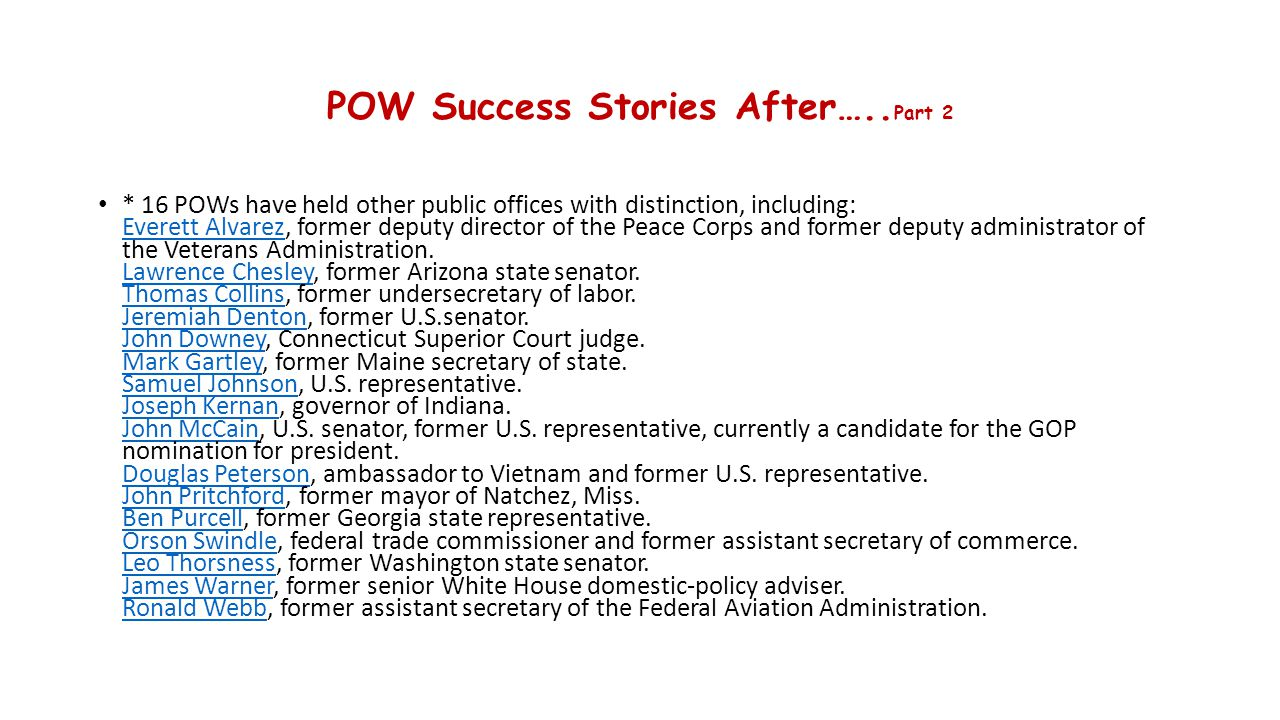 POW Success Stories After…..Part 2