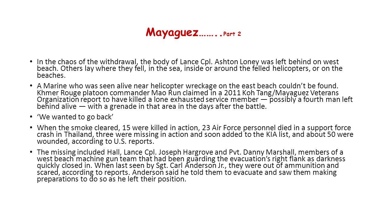 Mayaguez……..Part 2