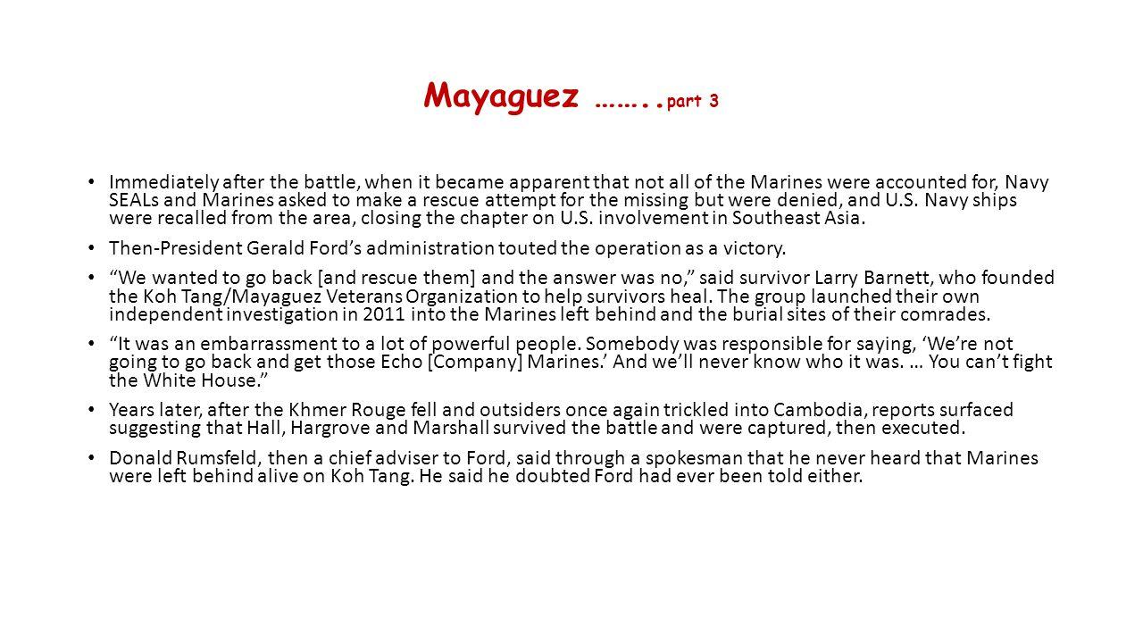 Mayaguez ……..part 3