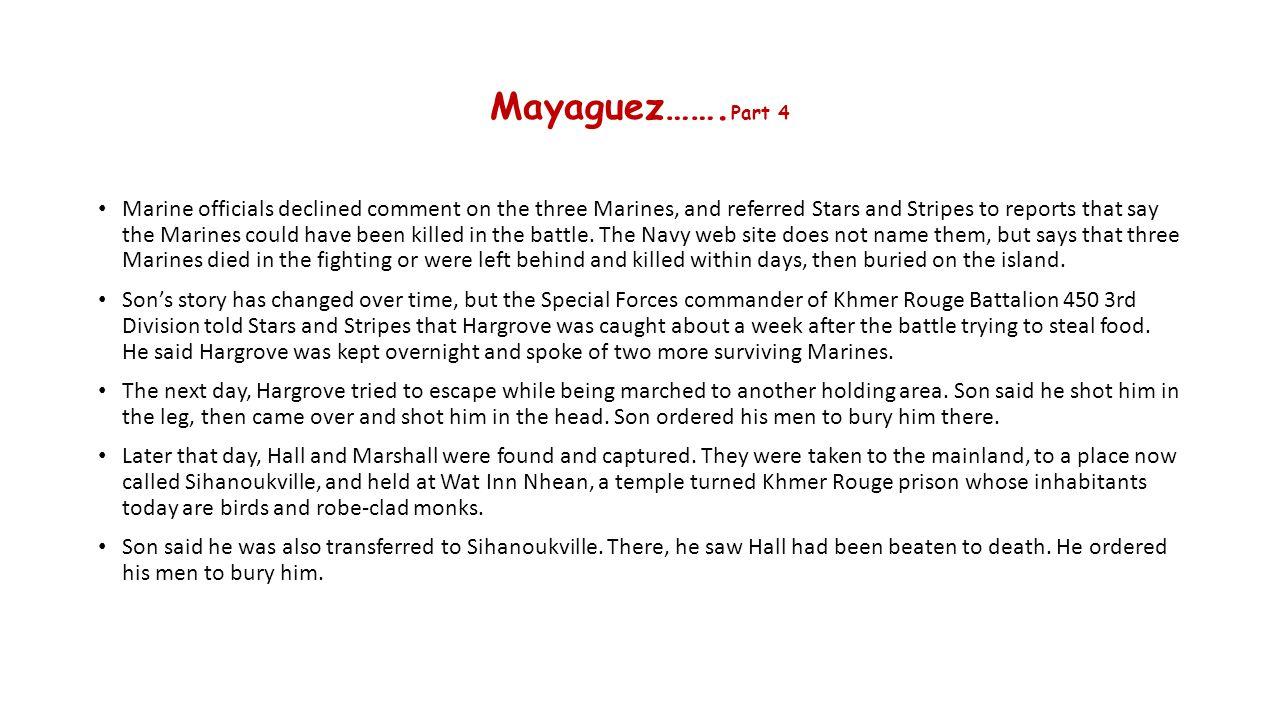 Mayaguez…….Part 4