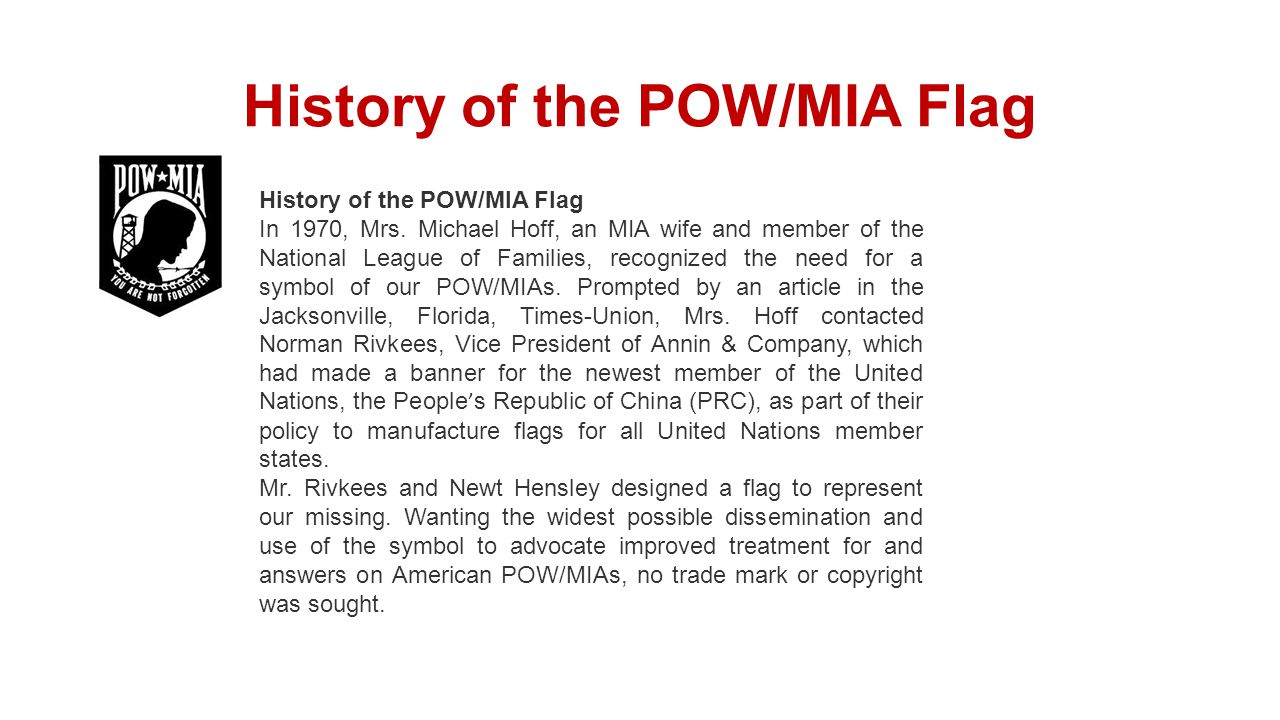 History of the POW/MIA Flag