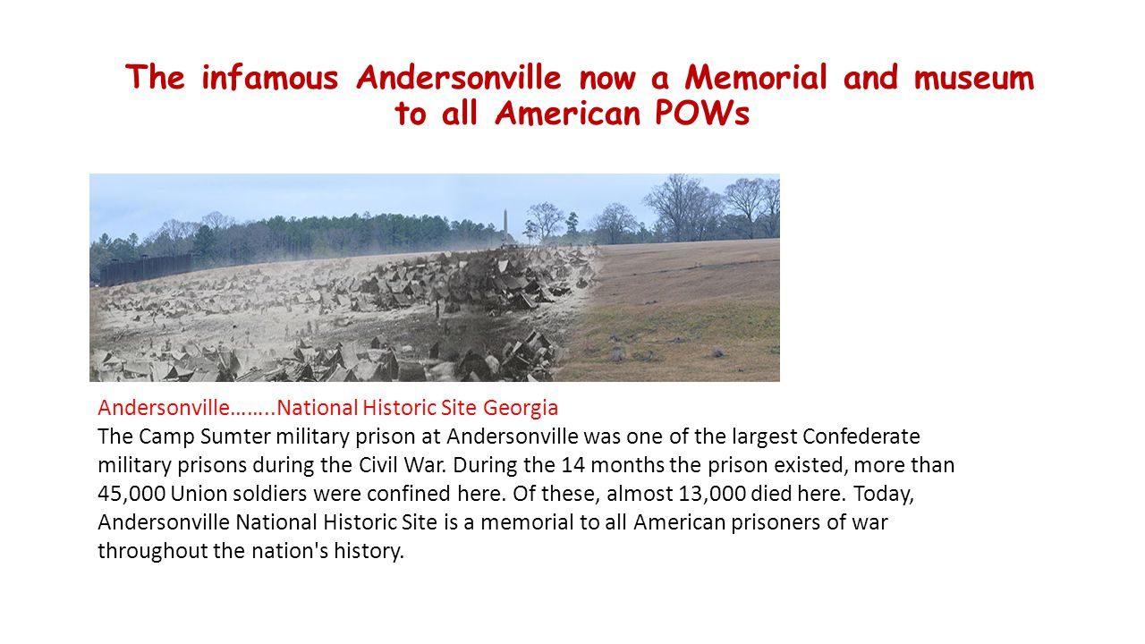 The infamous Andersonville now a Memorial and museum to all American POWs