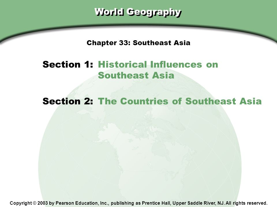Chapter 33: Southeast Asia