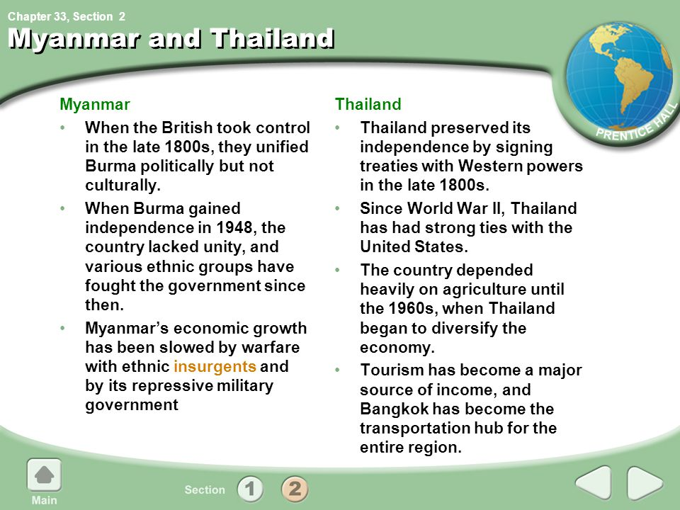 Myanmar and Thailand Myanmar