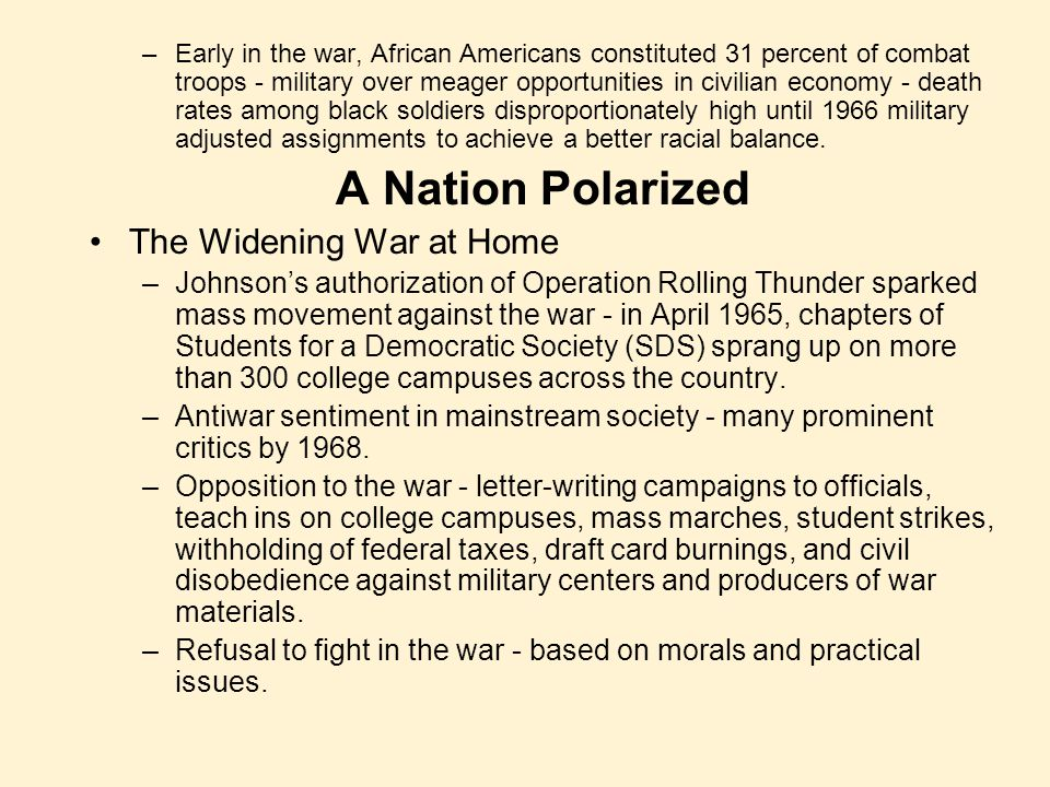 A Nation Polarized The Widening War at Home