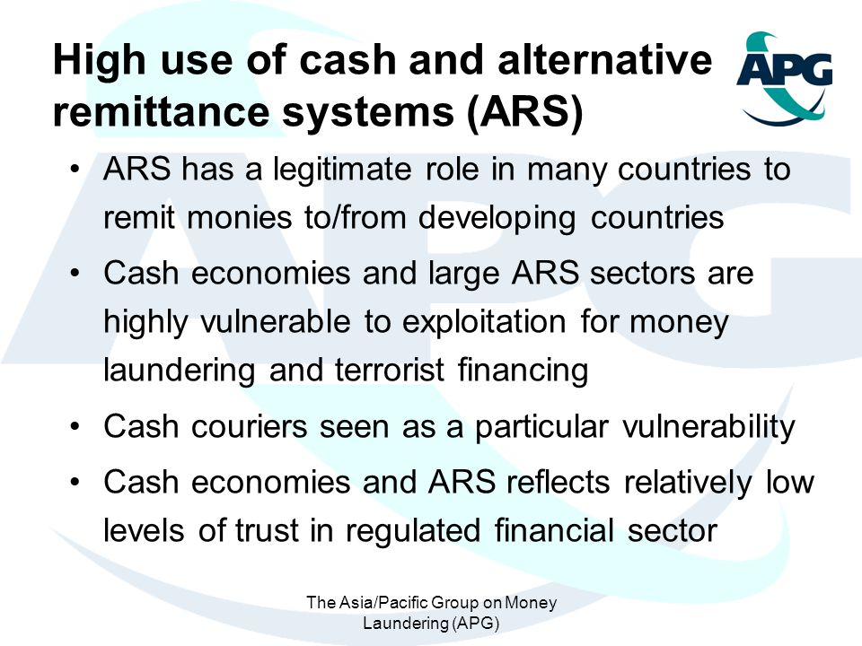 The Asia/Pacific Group on Money Laundering (APG)