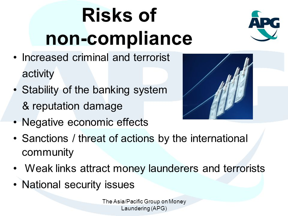 Risks of non-compliance