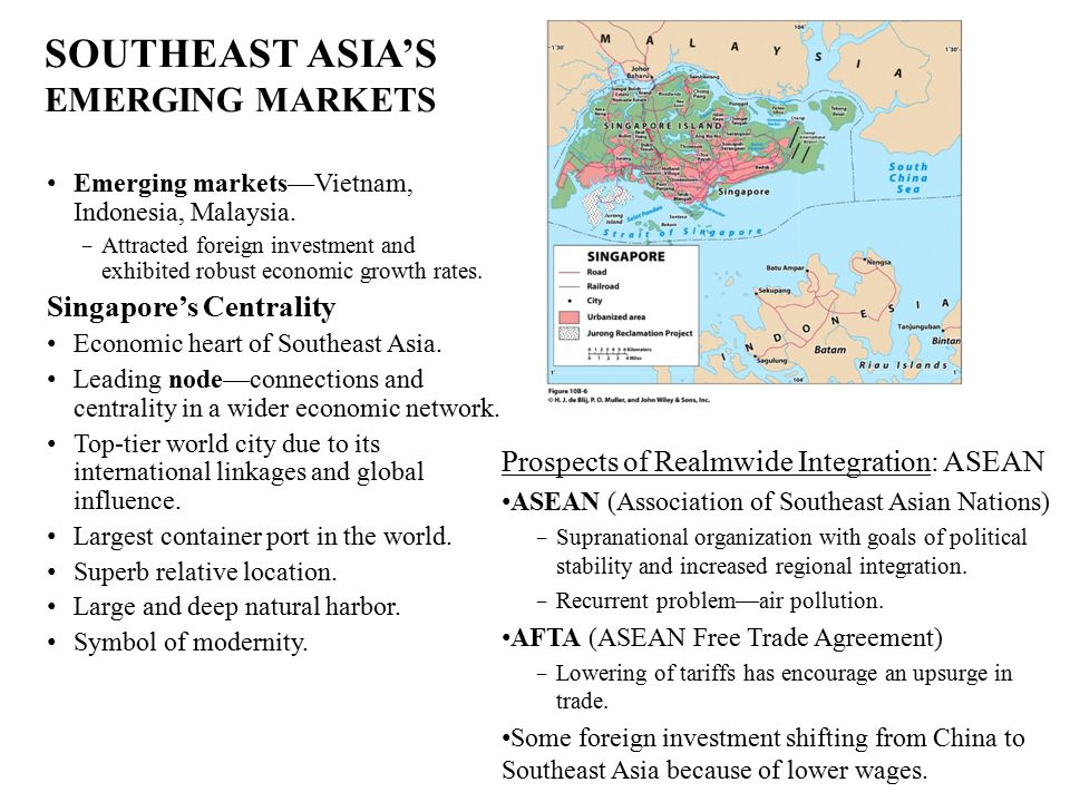 SOUTHEAST ASIA'S EMERGING MARKETS