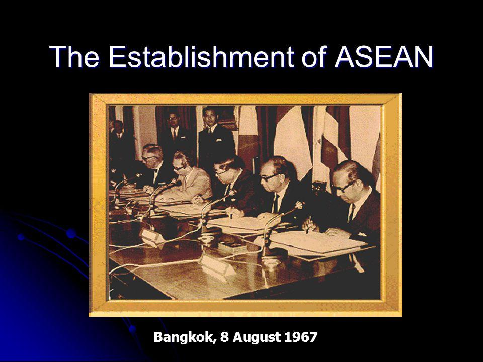 The Establishment of ASEAN