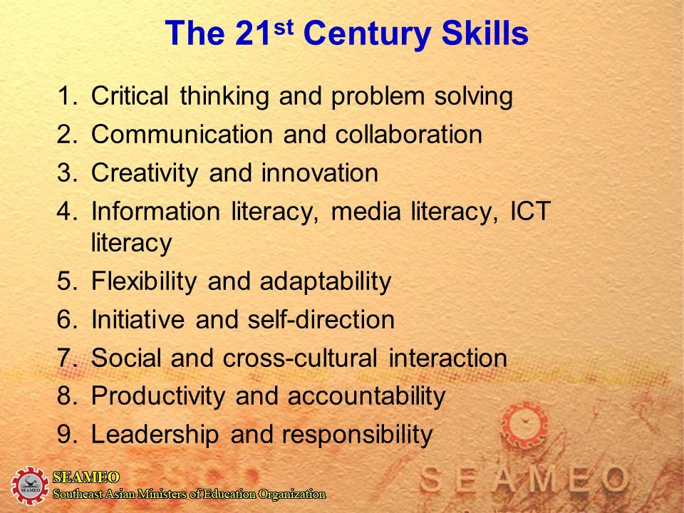 The 21st Century Skills Critical thinking and problem solving
