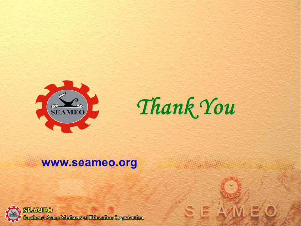 Thank You www.seameo.org