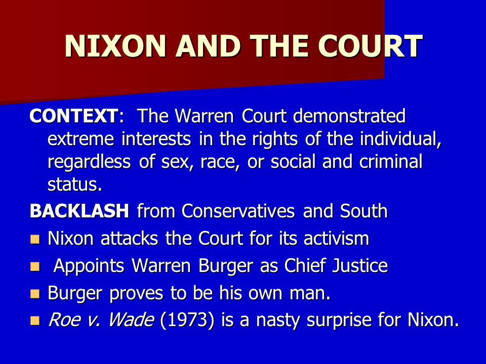 NIXON AND THE COURT