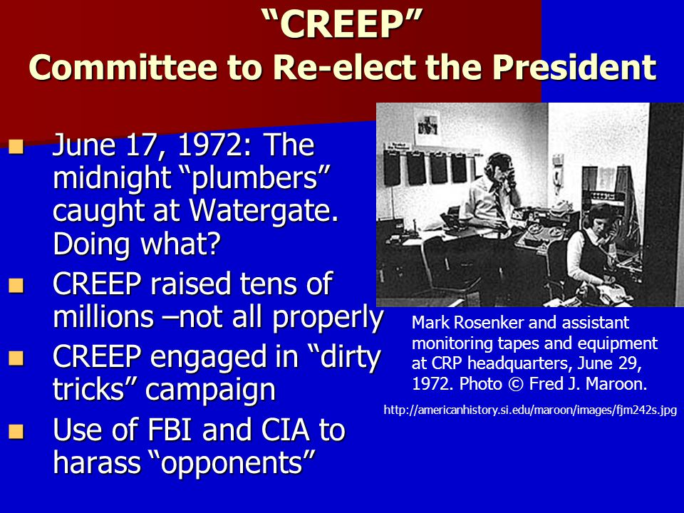 CREEP Committee to Re-elect the President