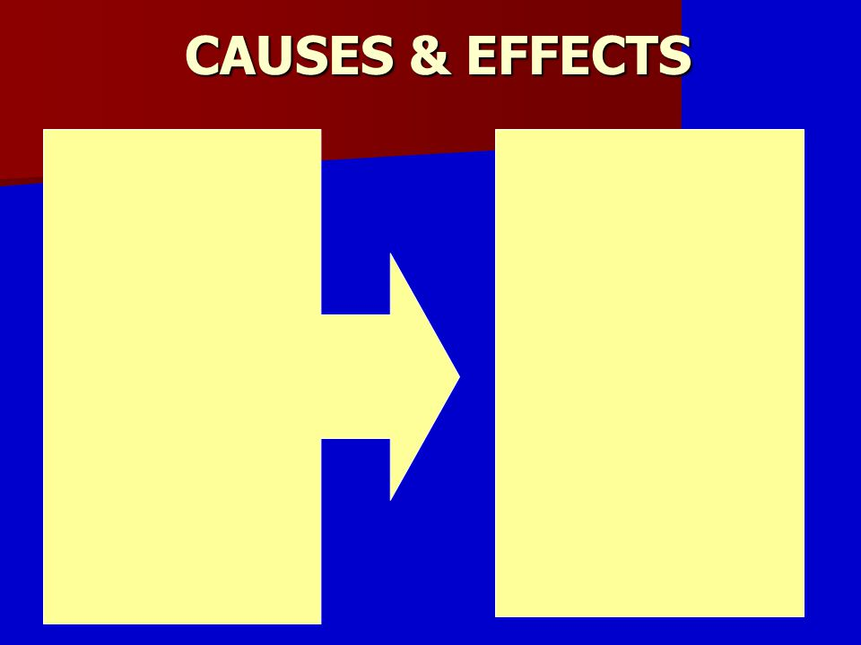 CAUSES & EFFECTS