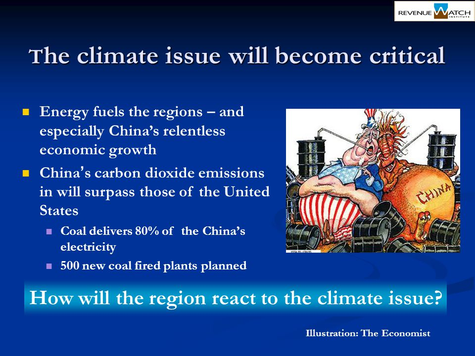 How will the region react to the climate issue
