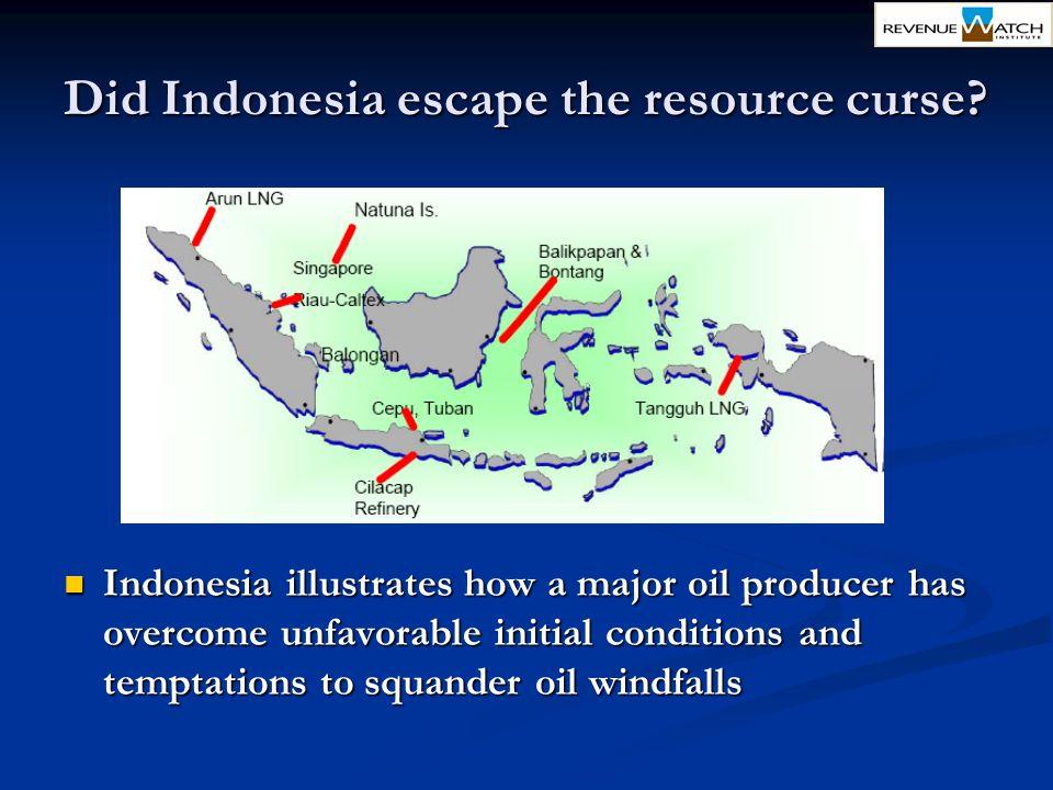 Did Indonesia escape the resource curse
